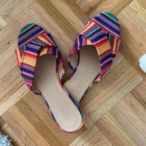 JCrew multicolor slides!